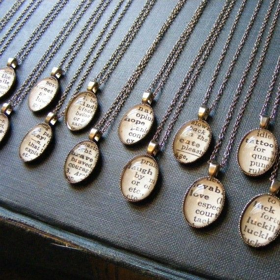 Vintage Dictionary Word Necklaces, Find the Perfect Gift for Everyone @WeShopGab