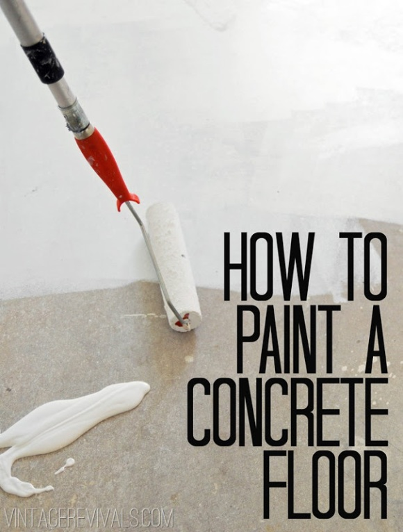 How To Paint Concrete Floors, Our Favorite Tips & Tricks from Pinterest @WeShopGab