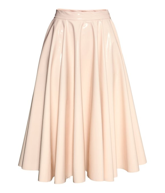 H&M glossy skirt @WeShopGab