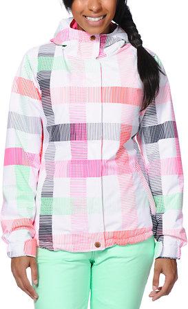 Aperture Pow Pow Lines White Snowboard Jacket, Zumiez $99.95